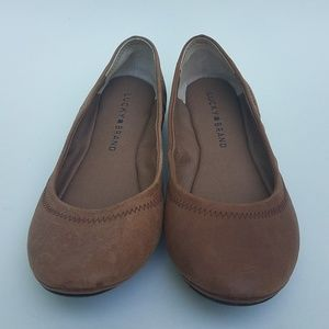 Lucky brand brown flats size 6